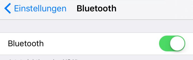 Bluetooth einschalten