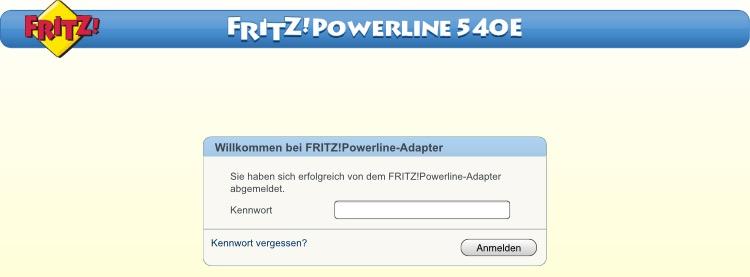 Powerline Anmeldung Passwort Vergeben